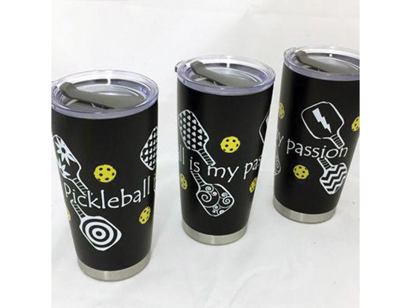 Pickleball 20 oz Stainless Steel Tumbler