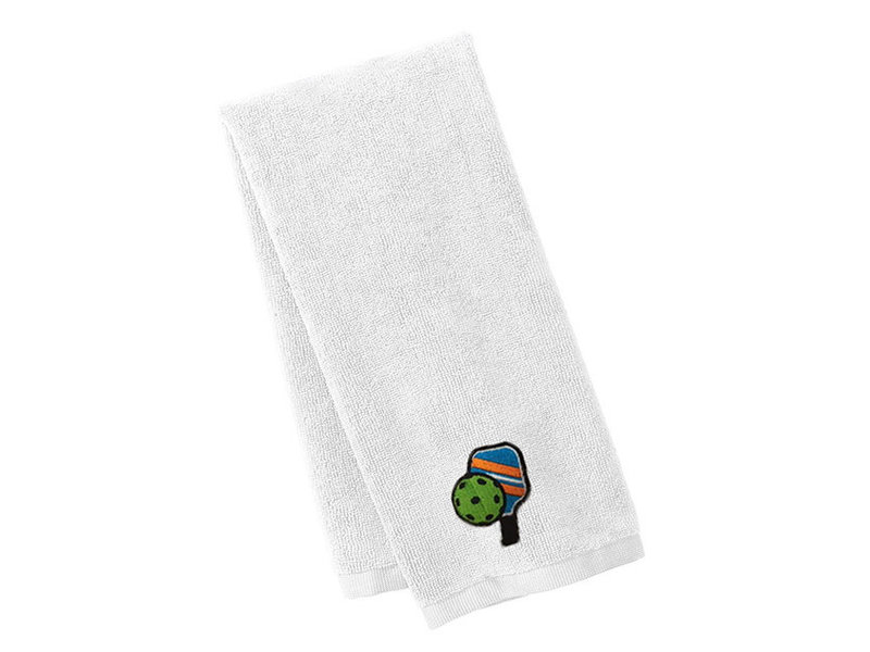 Pickleball Sport Towel White