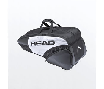 Head Djokovic 6R Pack Combi Bag White/Black