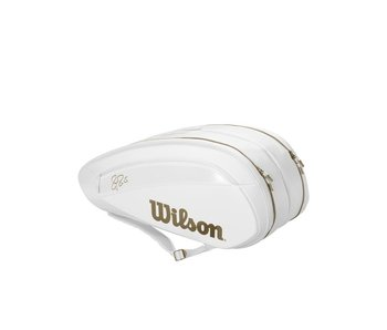 Wilson Federer DNA 12 Pack Bag Limited White/Gold