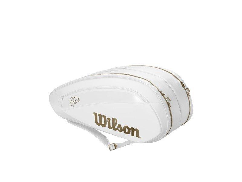 Wilson Federer DNA 12 Pack Bag Limited White/Gold