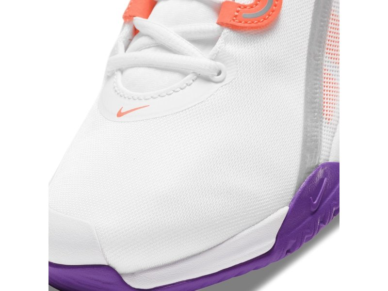 Nike Women's Court Air Max Volley Tennis Shoes White and Bright Mango