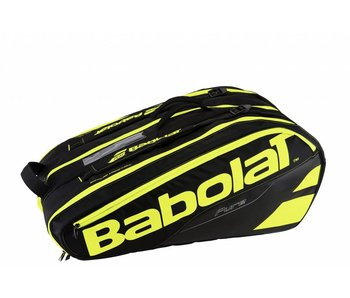 Babolat Racket Holder x12 Pure Black/Yellow Tennis Bag