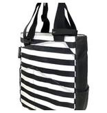 Maggie Mather Tennis Tote Stripes & black/white