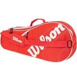 Wilson Advantage Team Triple 3 Pack Bag Red