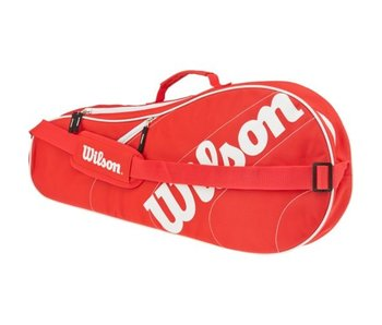 Wilson Advantage Team Triple 3 Pack Bag Red