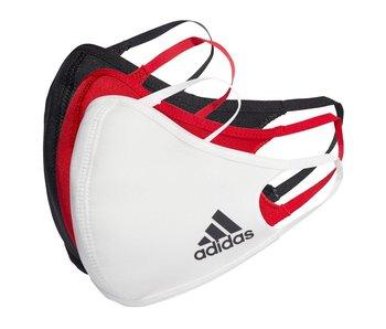 Adidas Face CVR Masks  Med/LG 3 Pack Multi Color