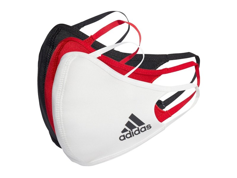 Adidas Face CVR Masks  Med/LG 3 Pack Multi Color