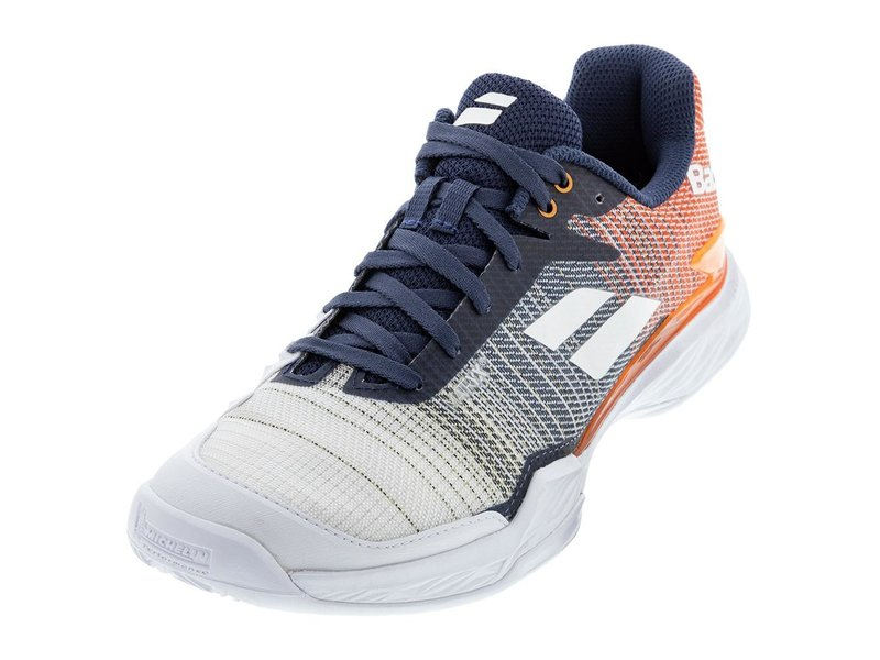 Babolat Jet Mach II All Court White/Pureed Pumpkin Men's Tennis Shoe