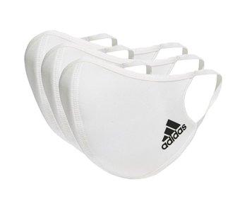 Adidas Face CVR Masks M/L 3 Pack White