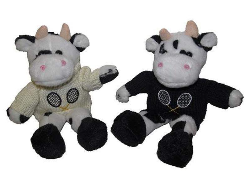 Cow w/ Tennis Knit Sweater Navy Sweater