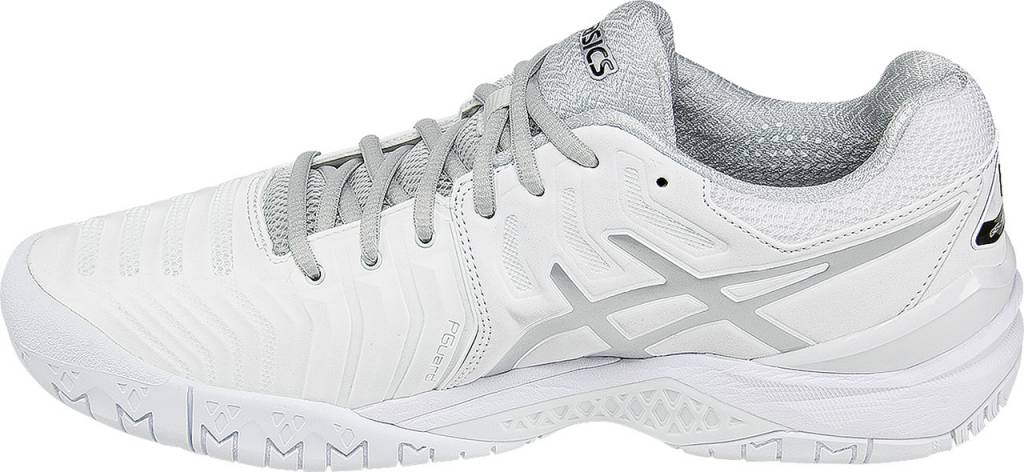d37560141af7 Asics Gel Resolution 7 White Silver Men s Shoes - Tennis Topia ...