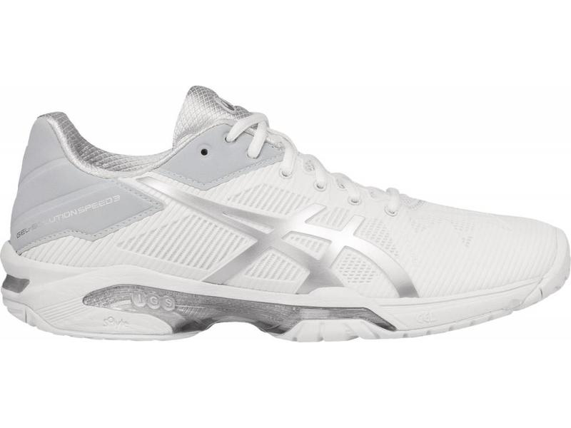 Asics Gel Solution Speed 3 White/Silver Women's Shoe