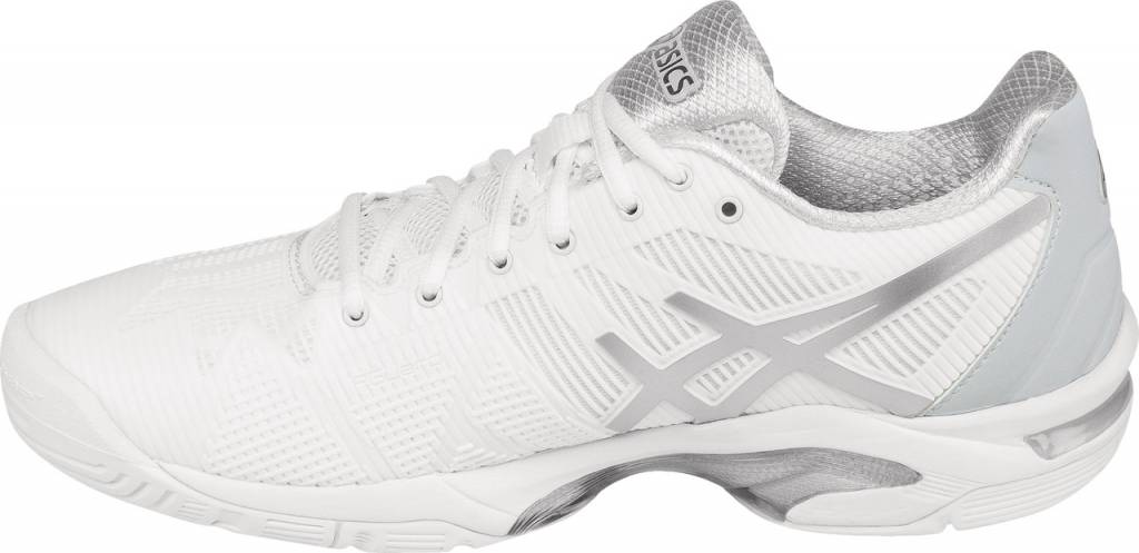 71d0867cde Asics Gel Solution Speed 3 White/Silver Women's Shoe - Tennis Topia ...