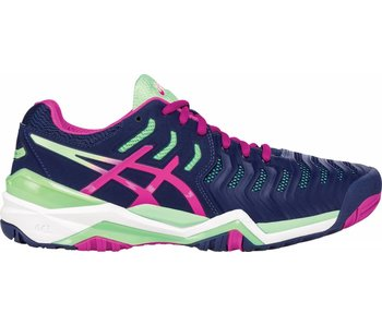Asics Gel Resolution 7 Indigo/Pink/Green Women's Shoes