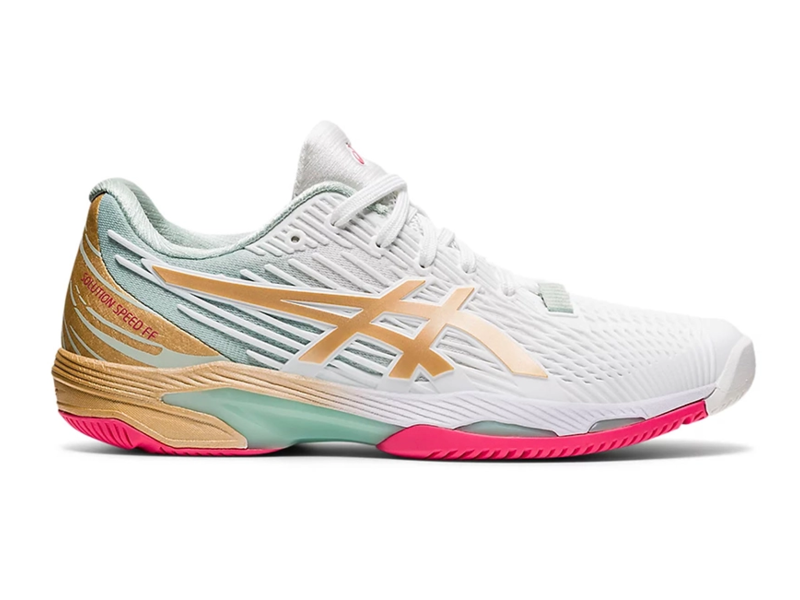 Asics Solution Speed FF 2 LE  White/Champagne Women's Shoes