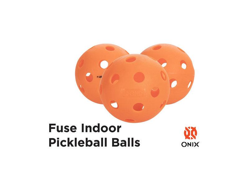 Onix Fuse Indoor  Pickleball Orange X3