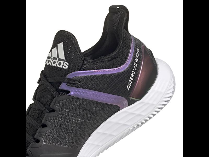 Adidas Adizero Ubersonic 4 Clay Core Black and White  Men's Shoe