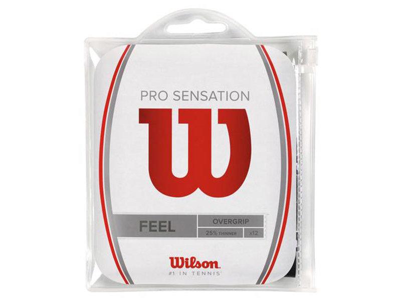 Wilson Pro Sensation Overgrip 12 Pack - Black