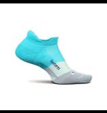 Feetures Elite Max Cushion No Show Tab Socks AI Aqua M