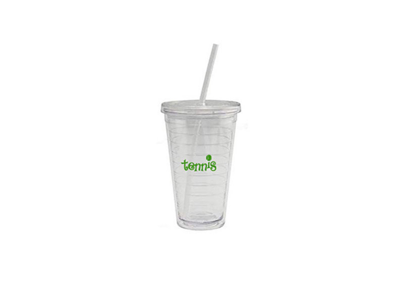 """To Go Cup """"Tennis"""" Green text"""