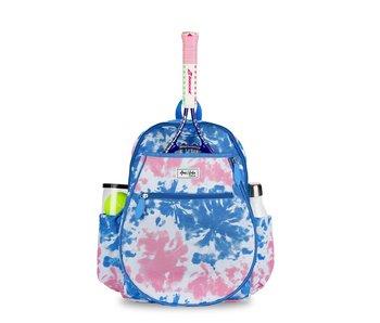 Ame & Lulu Blue/Pink Tie Dye Kids Big Love Tennis Backpack