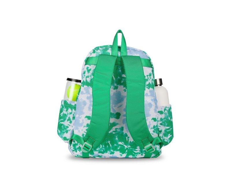 Ame & Lulu Green/Blue Tie Dye Game On Tennis Backpack