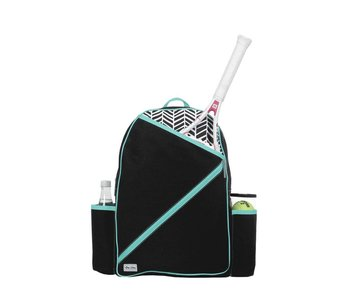 Ame & Lulu Brooks Tennis Backack Blk Shutters