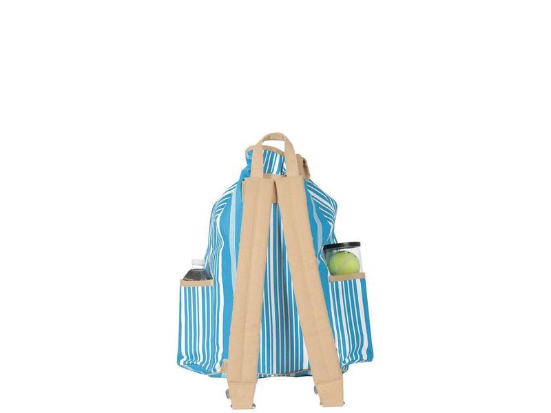 Ame & Lulu Kingsley Tennis Backpack Ticking Stripes