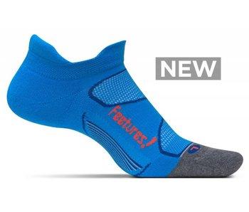 Feetures Elite Max Cushion No-Show Socks Bright Blue/Lava M