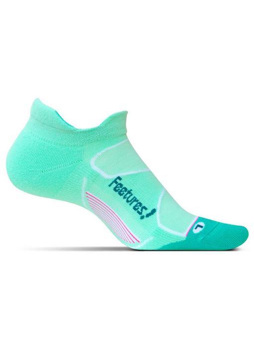 Feetures Elite Max Cushion No-Show Socks Mint/Capri M