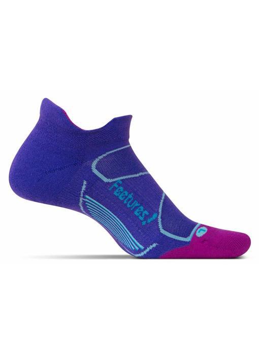 Feetures Elite Max Cushion No-Show Socks Iris/Hawaiian Blue M