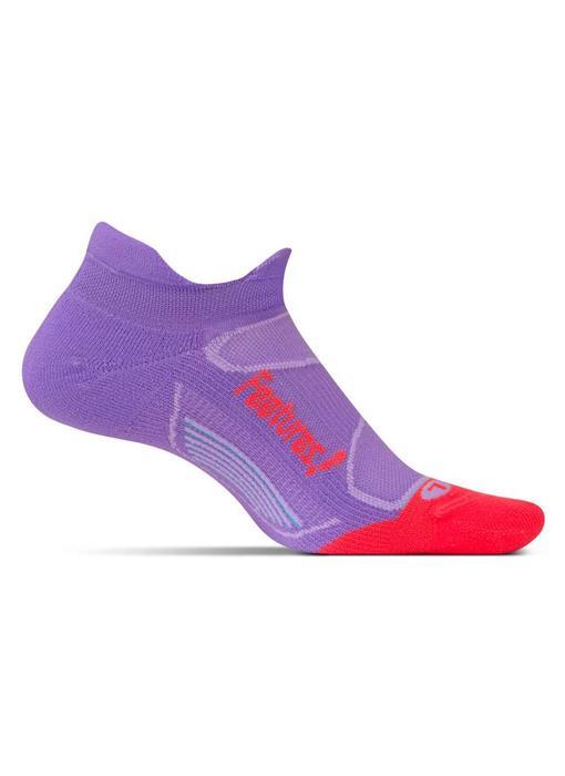 Feetures Elite Light Cushion No Show Tab Socks Viola/Lava