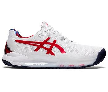 Asics Gel-Resolution 8 White/Red Men's Shoe