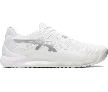 Asics Gel-Resolution 8 White/Pure Silver Men's Shoe