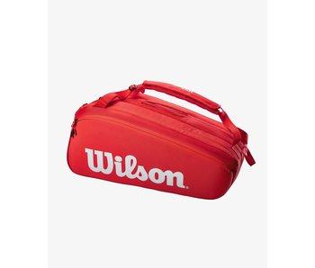 Wilson Super Tour 15 Pack Tennis Bag Red