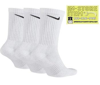 Nike Everyday Cushion Crew Sock White 3 Pack L