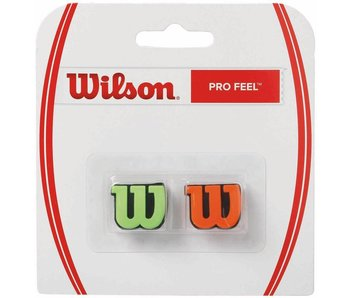 Wilson Pro Feel Dampener Pair Green & Orange