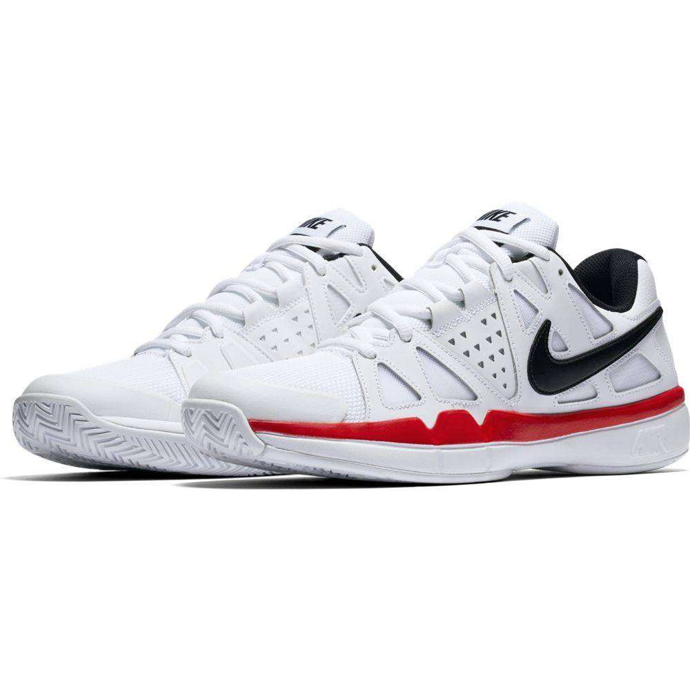 Nike Air Vapor Advantage White Black Red Men s Shoe - Tennis Topia ... bd492a602