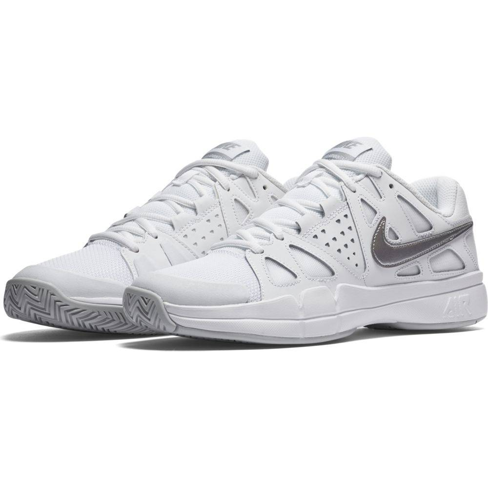 Women's Air Tennis Shoe Vapor Nike Advantage Whitegreysilver gI7wqR4H4