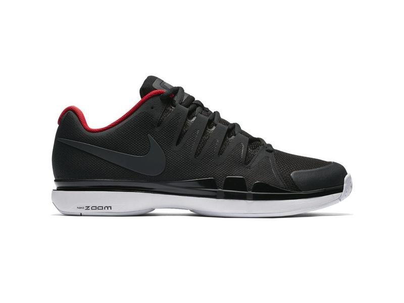 9b859fd4212f Nike Zoom Vapor 9.5 Tour Black Red Men s Shoe - Tennis Topia - Best ...