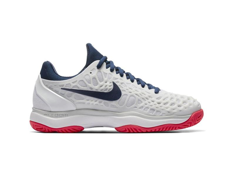 87017486944a Nike Zoom Cage 3 HC White Navy Red Women s Shoe - Tennis Topia ...