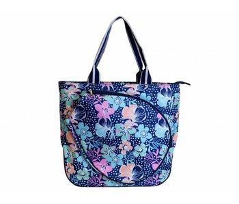All For Color Tennis Tote Midnight Blooms