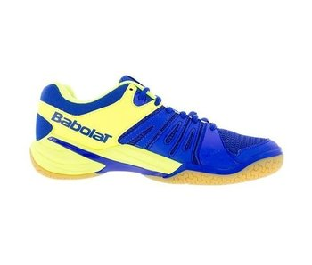 60f9575fa806 View Babolat Shadow Spirit Indoor Tennis Shoes Blue Yellow Men s