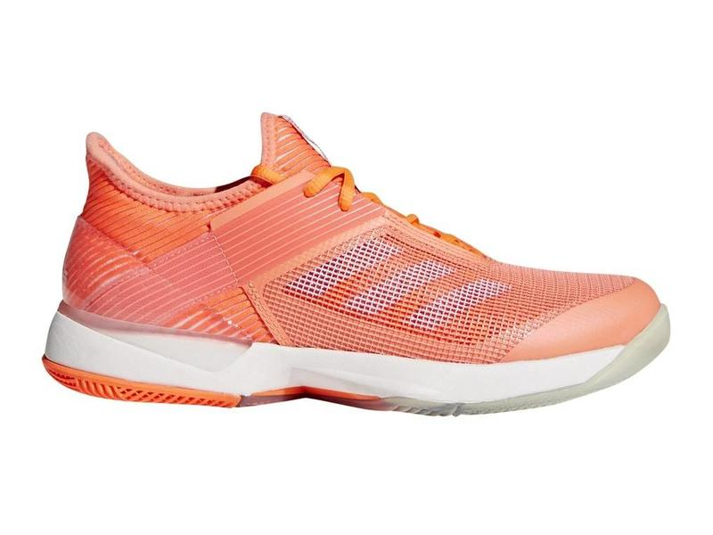 outlet store ad7b2 4cddd Adidas Adizero Ubersonic 3 CoralWhite Womens Shoe