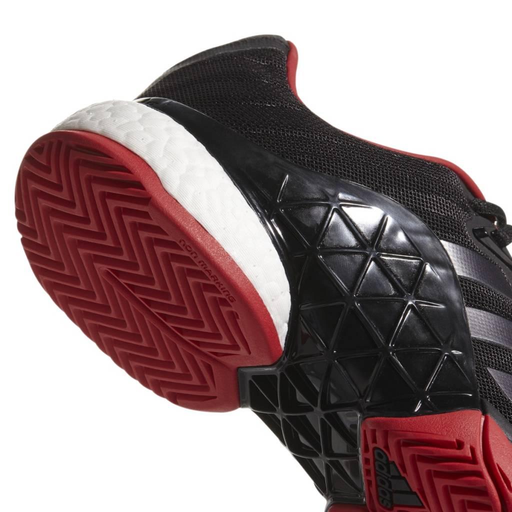brand new 03950 33c84 ... Adidas Barricade 2018 Boost Black Red ...