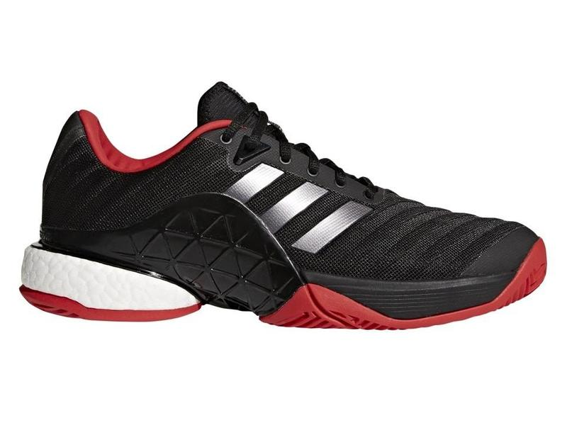 Adidas Barricade 2018 Boost Black Red Men s Tennis Shoe - Tennis ... 55ce0f34cd2d0