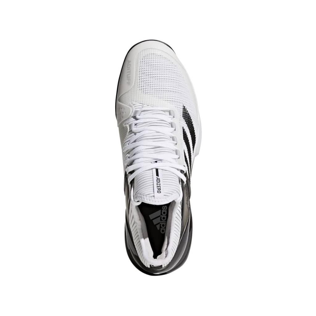 sports shoes 30691 16c89 ... Adidas Adizero Ubersonic 2 WhiteBlack Mens ...
