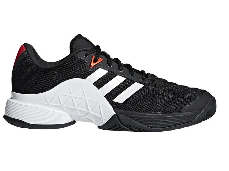 new concept 666b4 a862a Adidas Barricade 2018 BlackWhite Mens Shoe