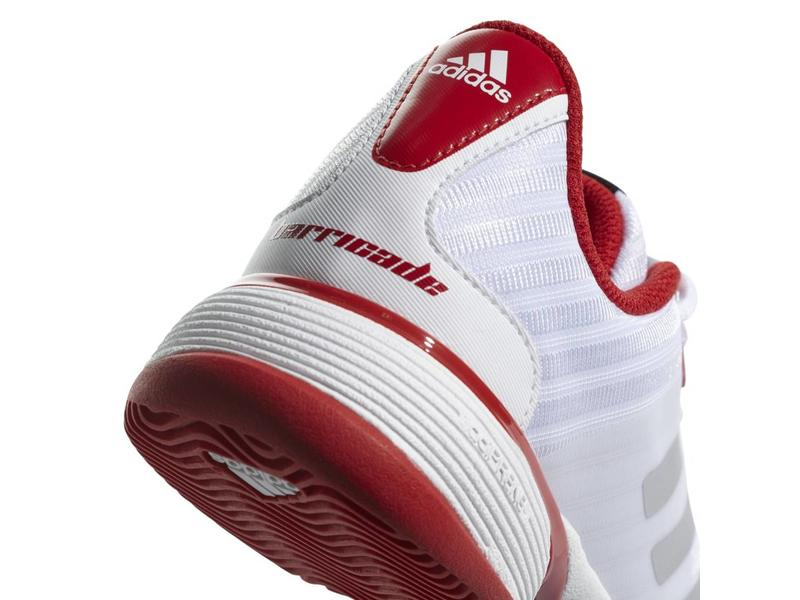 Adidas Barricade 2018 xJ White/Red Junior Shoes